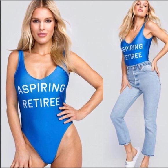 f73fefd49bf7 Wildfox Swim | Nwt Aspiring Retiree One Piece Suit | Poshmark